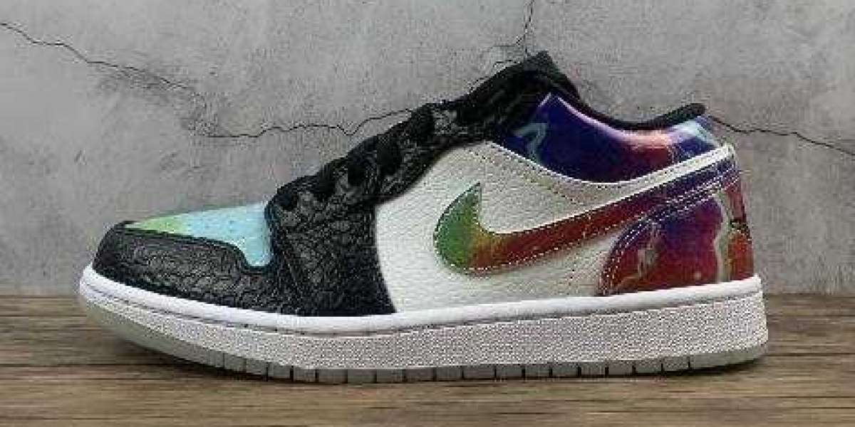 Best Selling Air Jordan 1 Low Black Multi Color White Online Sale