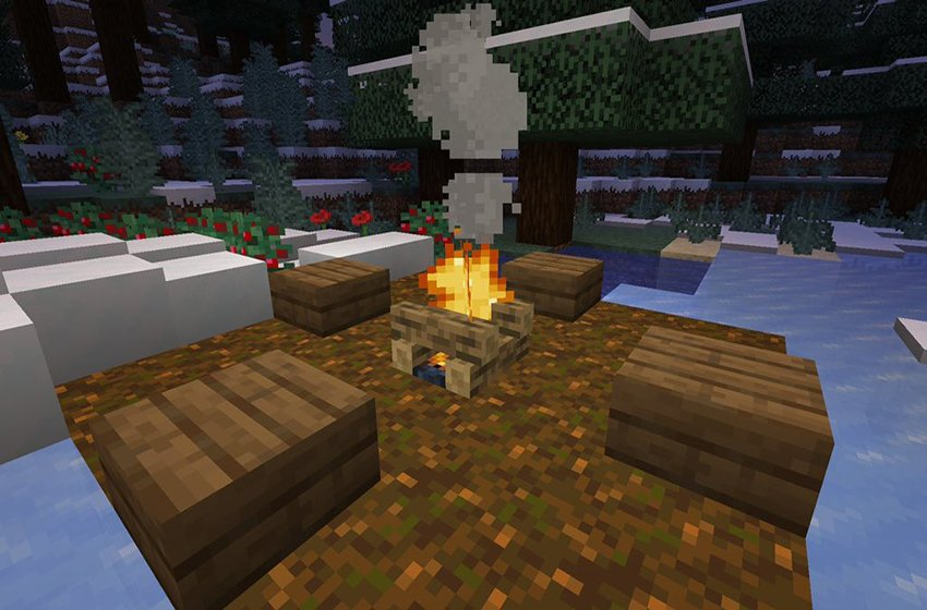 How to Make a Campfire in Minecraft