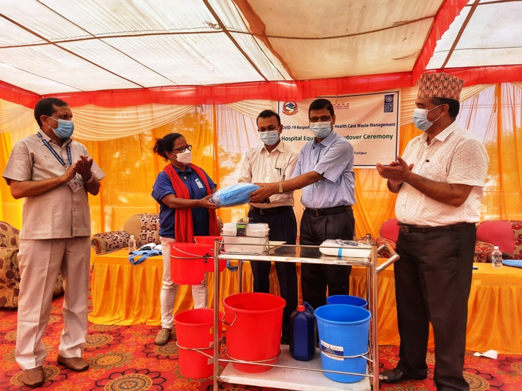 China-aided essential waste management supplies handed over to Rapti Provincial Hospital - myRepublica - The New York Times Partner, Latest news of Nepal in English, Latest News Articles